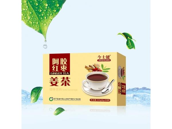 阿胶红枣姜茶